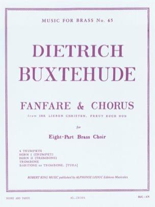 Fanfare And Chorus BUXTEHUDE Partition laflutedepan