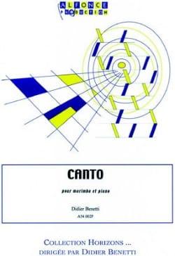 Canto Didier Benetti Partition Marimba - laflutedepan