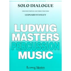 Solo Dialogue Stanley Leonard Partition Timbales - laflutedepan