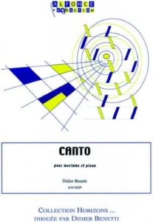 Canto - Didier Benetti - Partition - Marimba - laflutedepan.com
