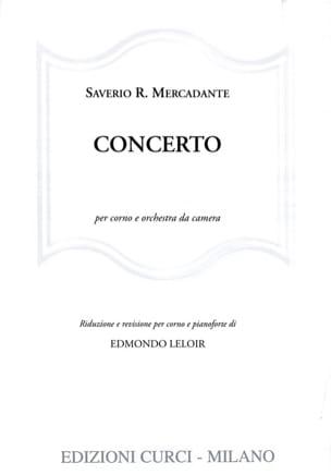 Concerto Saverio R. Mercadante Partition Cor - laflutedepan