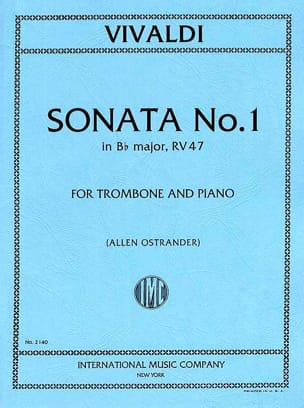 Sonata N° 1 Si bémol Majeur VIVALDI Partition Trombone - laflutedepan