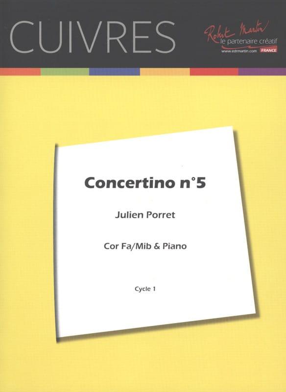 Concertino N° 5 - Julien Porret - Partition - Cor - laflutedepan.com