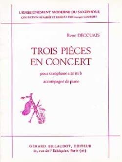 René Decouais - 3 piezas en concierto - Partition - di-arezzo.es