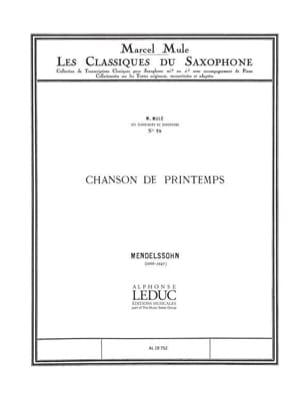 Chanson de Printemps MENDELSSOHN Partition Saxophone - laflutedepan