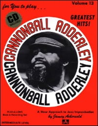 Volume 13 - Cannonball Adderley METHODE AEBERSOLD laflutedepan