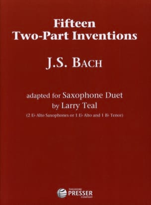 Fifteen Two-Part Inventions BACH Partition Saxophone - laflutedepan