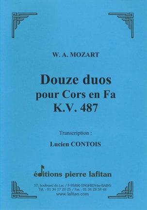 Douze 12 Duos pour Cors en Fa - KV 487 MOZART Partition laflutedepan