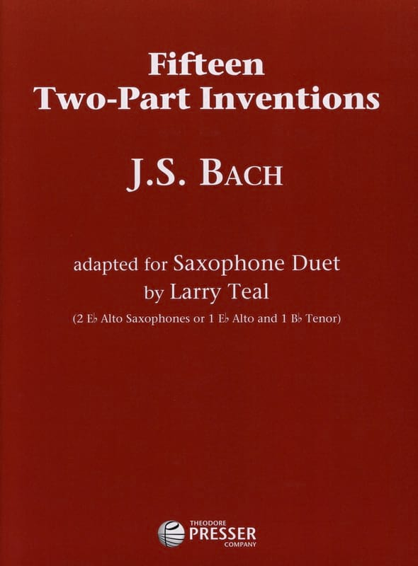 Fifteen Two-Part Inventions - BACH - Partition - laflutedepan.com