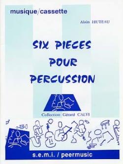 6 Pièces Pour Percussion Alain Huteau Partition laflutedepan