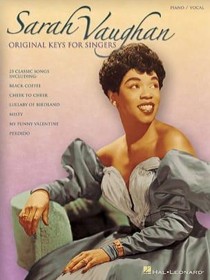 Original Keys For Singers Sarah Vaughan Partition Jazz - laflutedepan