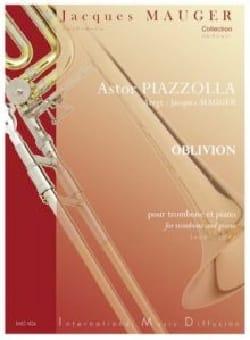 Oblivion Astor Piazzolla Partition Trombone - laflutedepan