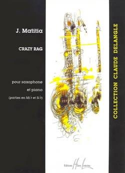 Crazy Rag Jean Matitia Partition Saxophone - laflutedepan