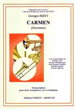 Carmen Ouverture - Quatuor de Cuivres BIZET Partition laflutedepan