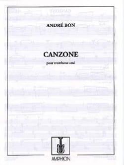 Canzone - André Bon - Partition - Trombone - laflutedepan.com