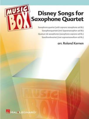 Disney songs for saxophone quartet - music box laflutedepan