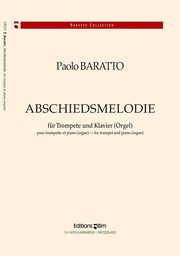Abschiedsmelodie - Paolo Baratto - Partition - laflutedepan.com
