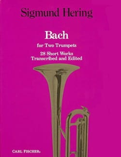 28 short works BACH Partition Trompette - laflutedepan