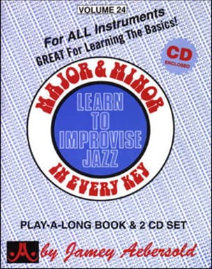 Volume 24 - Major & Minor METHODE AEBERSOLD Partition laflutedepan