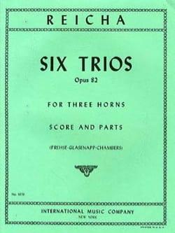 6 Trios Opus 82 REICHA Partition Cor - laflutedepan