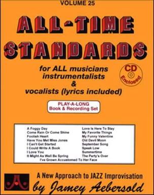 Volume 25 - All Time Standards METHODE AEBERSOLD laflutedepan