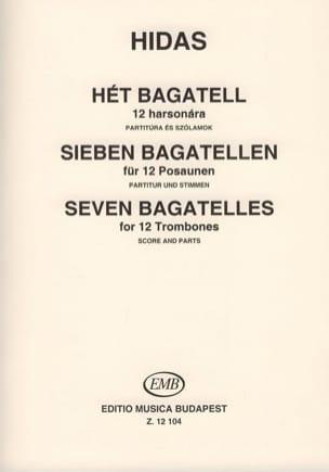 Seven Bagatelles Frigyes Hidas Partition Trombone - laflutedepan