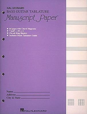 Cahier de Musique - Bass Guitar Tablature Manuscript Paper - Papier - di-arezzo.com