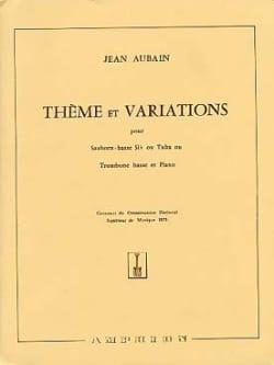 Thème Et Variations Jean Aubain Partition Tuba - laflutedepan