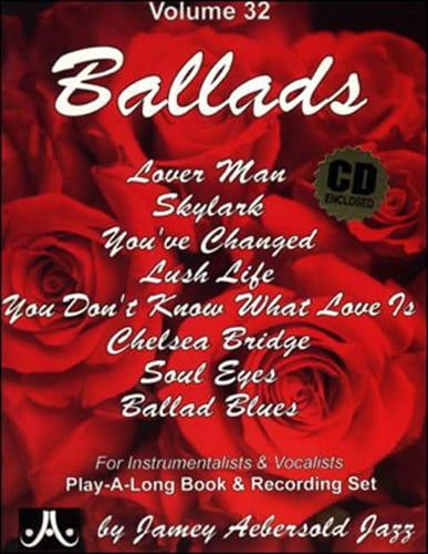 Volume 32 - Ballads - METHODE AEBERSOLD - Partition - laflutedepan.com