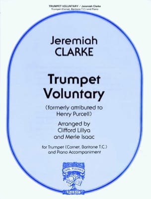 Trumpet Voluntary Jeremiah Clarke Partition Trompette - laflutedepan