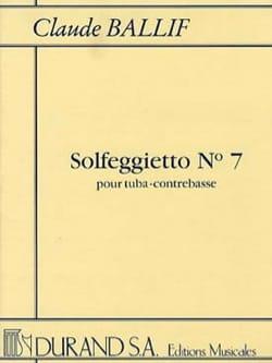 Solfeggietto N° 7 Claude Ballif Partition Tuba - laflutedepan