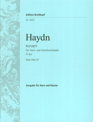HAYDN - Concerto for horn N ° 2 in D Major - Partition - di-arezzo.co.uk