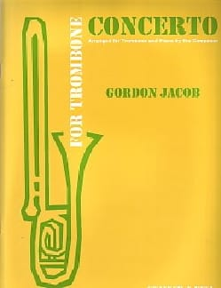 Concerto For Trombone Gordon Jacob Partition Trombone - laflutedepan