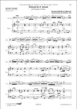 Sonata in A minor Benedetto Marcello Partition Trombone - laflutedepan