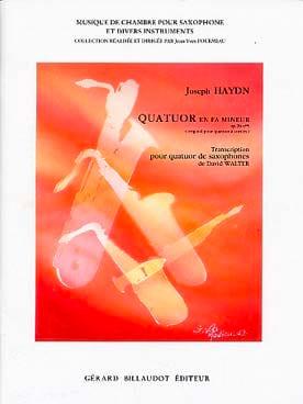 Quatuor En Fa Mineur Opus 20 N° 5 - HAYDN - laflutedepan.com