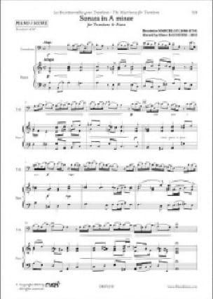 Sonata in A minor - Benedetto Marcello - Partition - laflutedepan.com