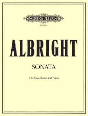 Sonata William Albright Partition Saxophone - laflutedepan