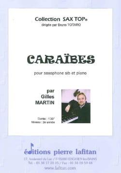 Caraïbes Gilles Martin Partition Saxophone - laflutedepan