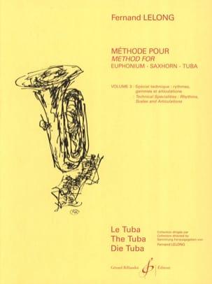 ABC du Jeune Tubiste Volume 3 Fernand Lelong Partition laflutedepan