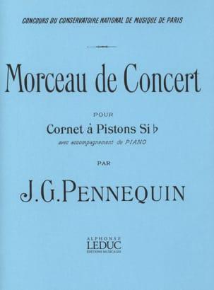 Morceau de Concert J.G. Pennequin Partition Trompette - laflutedepan