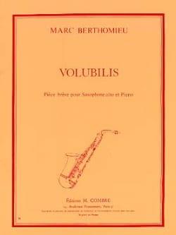 Volubilis Marc Berthomieu Partition Saxophone - laflutedepan
