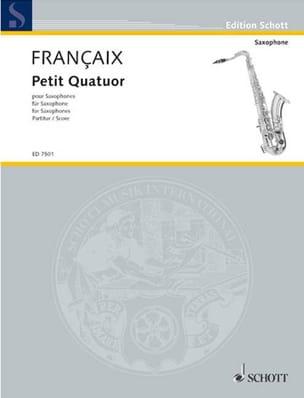 Petit Quatuor - Conducteur FRANÇAIX Partition Saxophone - laflutedepan