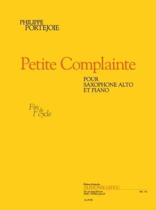Petite Complainte Philippe Portejoie Partition laflutedepan