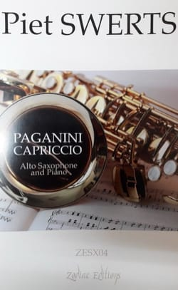 Paganini Capriccio Piet Swerts Partition Saxophone - laflutedepan