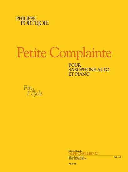 Petite Complainte - Philippe Portejoie - Partition - laflutedepan.com