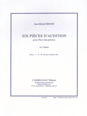 Six Pièces D' Audition Volume 1 Jean-Michel Defaye laflutedepan