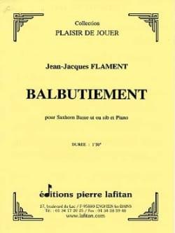 Balbutiement Jean-Jacques Flament Partition Tuba - laflutedepan
