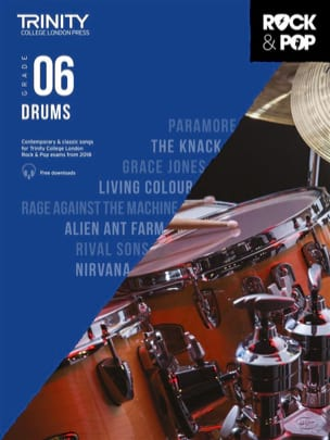 Trinity Rock and Pop 2018 -20 Drums Grade 6 - laflutedepan.com