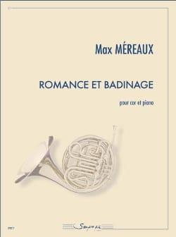Romance et badinage - Max Méreaux - Partition - Cor - laflutedepan.com
