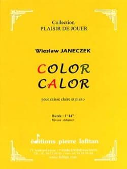 Color calor Wieslaw Janeczek Partition Caisse-claire - laflutedepan